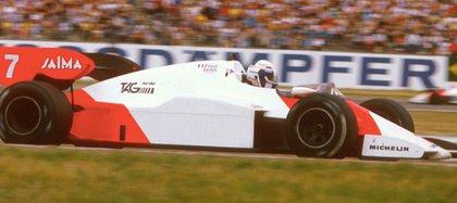 El MP4 2 de 1984 con Alain Prost al volante. Compañero del campeón Niki Lauda.