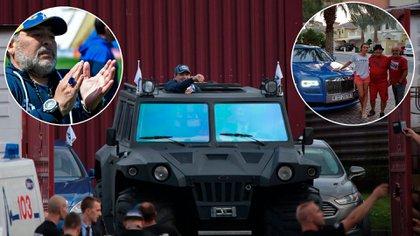 Maradona y la camioneta anfibia que quedó en Bielorrusia, el anillo valuado en 300.000 dólares y uno de sus autos de Dubai