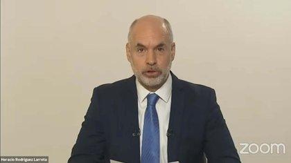 Horacio Rodríguez Larreta inauguró el año legislativo de manera virtual