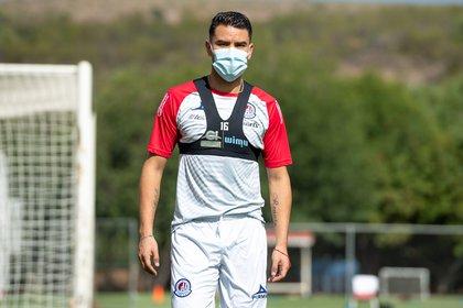 Pablo Barrera ya entrenó con el primer equipo de los tuneros (Foto: Twitter/ @AtletideSanLuis)