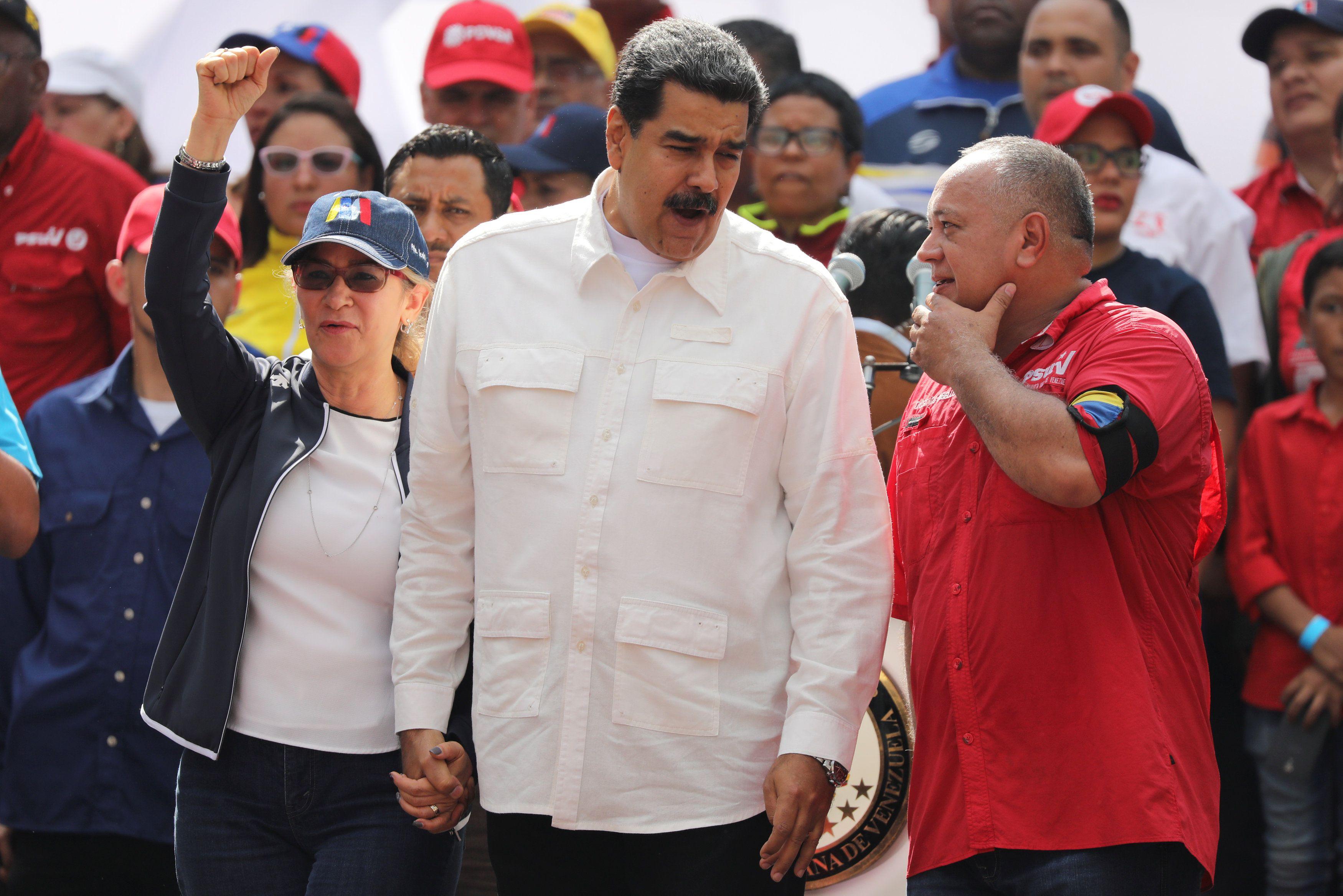Cilia Flores y Diosdado Cabello están entre los sancionados por el TIAR (REUTERS/Manaure Quintero)