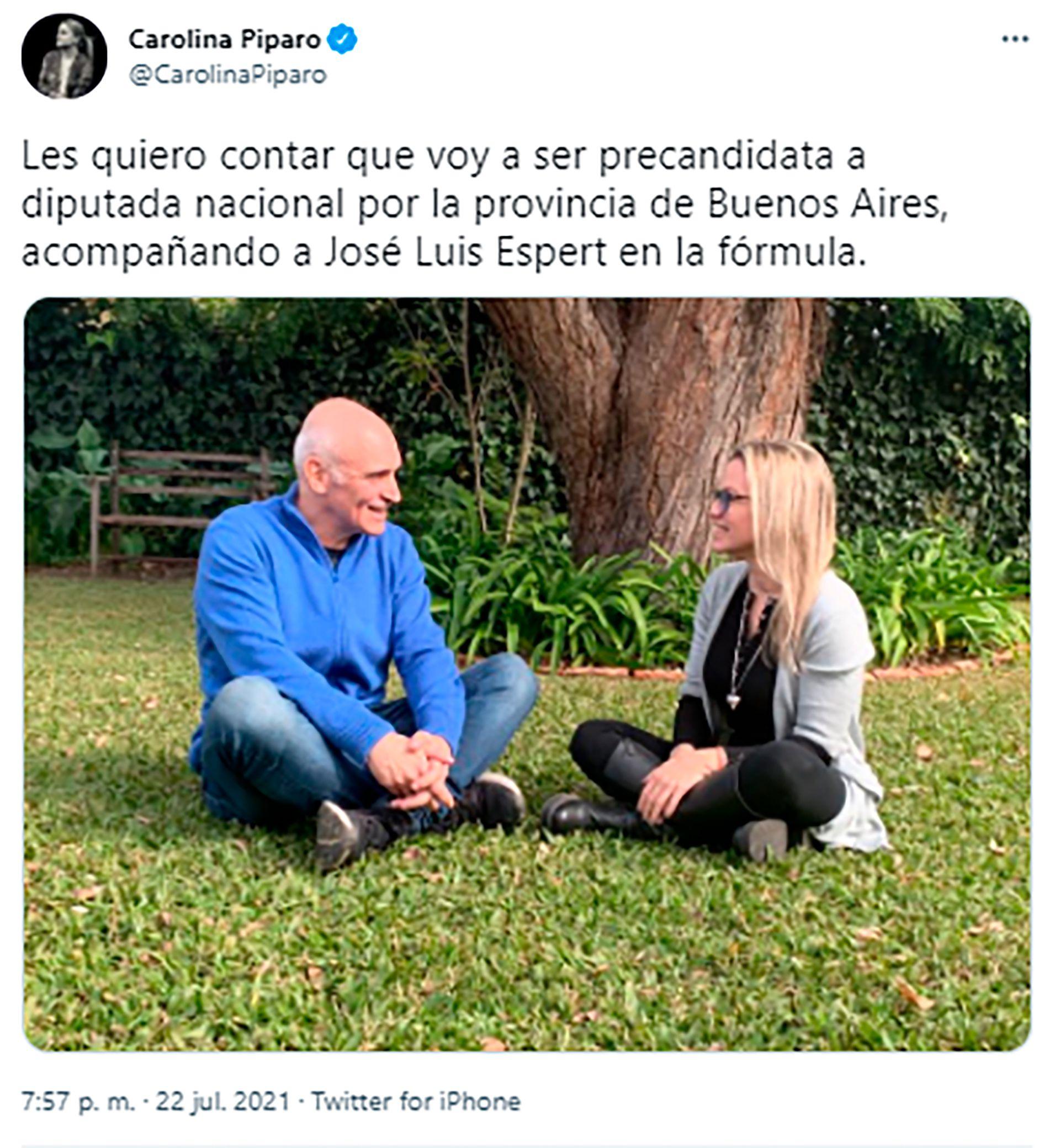 Carolina Piparlo y José Luis Espert