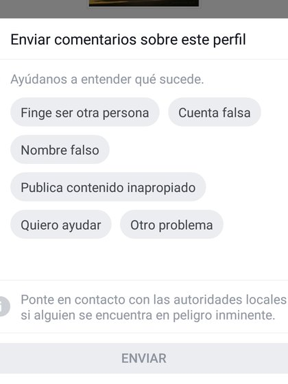Desde la app se pueden denunciar perfiles falsos o clonados