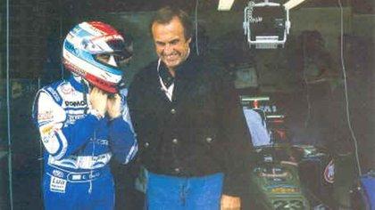 Con el Lole Reutemann antes de largar en Buenos Aires (Archivo CORSA).