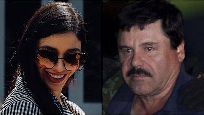 Emma Coronel y Guzmán Loera no han tenido contacto físico desde 2017 (Fotos: archivo)