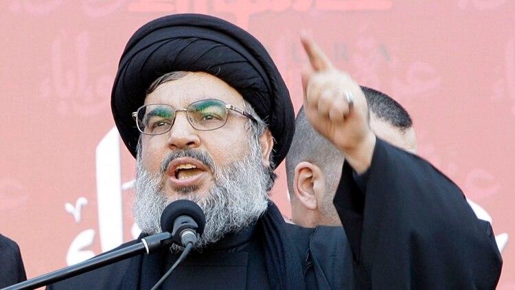 El jefe de la organización terrorista Hezbollah, Hassan Nasrallah