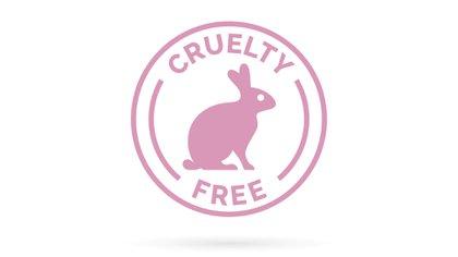 Así es el logo del cruelty free que significa que los productos no fueron testeados en animales (Shutterstock)