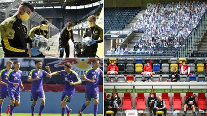 Las imágenes más extrañas que ha mostrado la Bundesliga y que podrían volverse normales en tiempos de coronavirus.