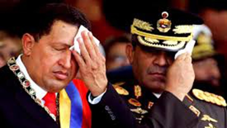 Hugo Chávez con Raúl Baduel