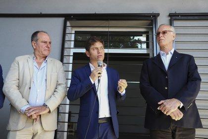 Daniel Gollan junto al gobernador de Buenos Aires, Axel Kicillof (NA)