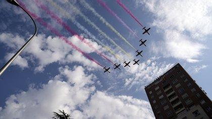 El caza que se estrelló regresaba del desfile (AFP)
