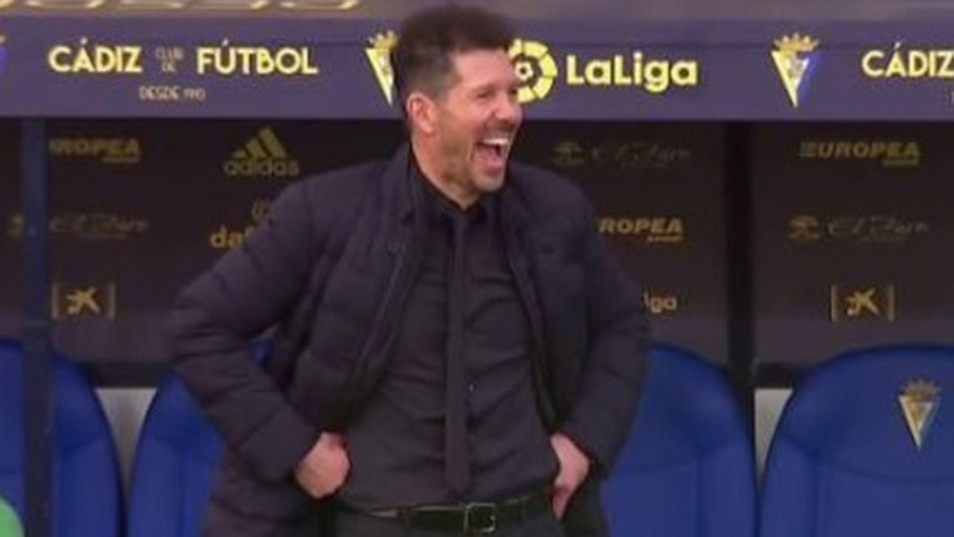 Simeone post gol de Luis Suarez en la victoria del Atlético Madrid