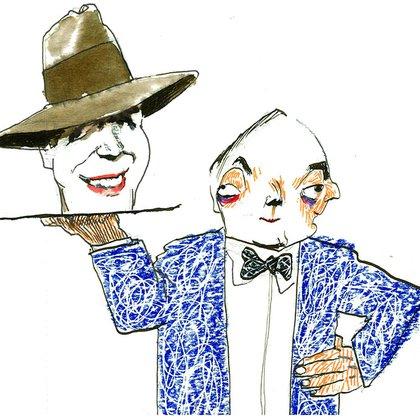 Néstor Kirchner y Carlos Gardel