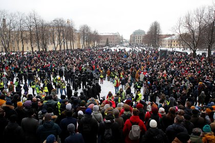 Concentración en San Petersburgo (Reuters)