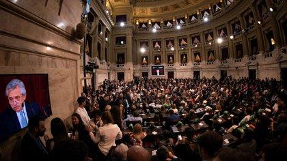 El Presidente habló 1 hora y 19 minutos frente a la Asamblea Legislativa (Adrián Escandar)
