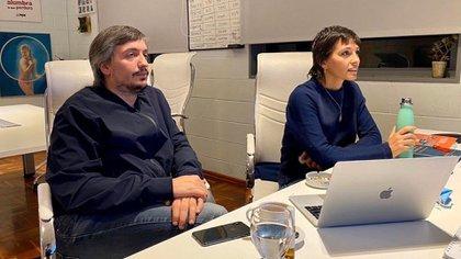 Mayra Mendoza junto a Máximo Kirchner, líderes de La Cámpora y piezas muy importantes en el armado kirchnerista (@mayrasolmendoza)