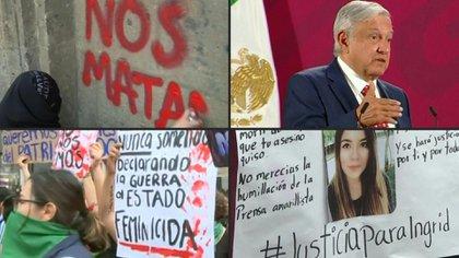 Colectivos de feministas en México llevaron este viernes un furioso reclamo a las puertas del palacio presidencial y hasta al propio mandatario, Andrés Manuel López Obrador, impulsadas por la indignación que provocó esta semana el atroz feminicidio de Ingrid Escamilla (Foto: especial)