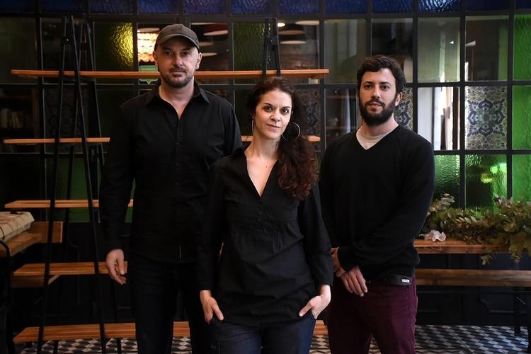 Diego Di Vincenzo, Macarena Trigo y Yair Magrino (Foto: Nicolás Stulberg)