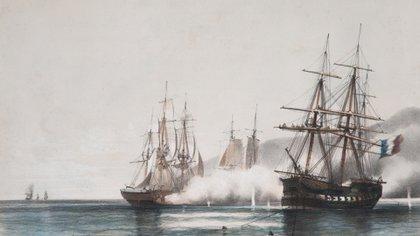 Todo estallaría el 20 de noviembre de 1845 cuando la flota anglo-francesa pretendió forzar el paso navegando por el río Paraná.