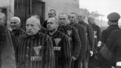 Prisioneros en el campo de concentración de Sachenhausen (United States Holocaust Memorial Museum)