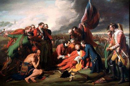 """""""La muerte del general Wolfe"""", de Benjamin West"""