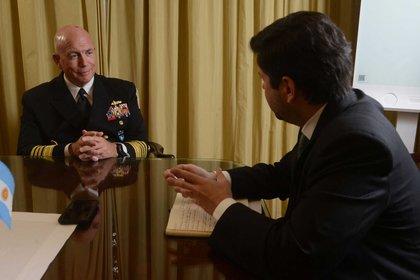 El almirante Kurt Tidd, en una entrevista exclusiva con DEF. Foto: Fernando Calzada.