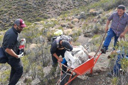 El rescate fue realizado por un equipo de investigadores de la Dirección de Patrimonio Cultural