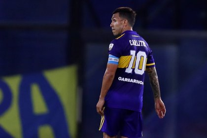 Carlos Tevez de Boca Juniors. EFE/Agustín Marcarian/Archivo