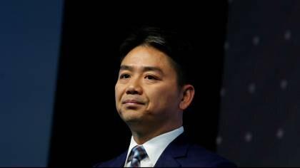 El fundador de JD.com Richard Liu durante un encuentro empresarial en Hong Kong (Reuters)