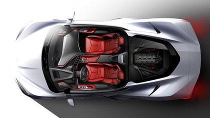Por primera vez, este nuevo Corvette viene con motor central