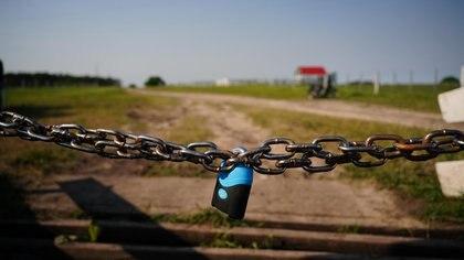 Candado. El acceso a Casa Nueva está restringido (Franco Fafasuli)