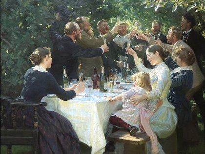 """¡Hip, hip, hurra!"", de P. S. Krøyer, en el Museo de Arte de Gotemburgo"