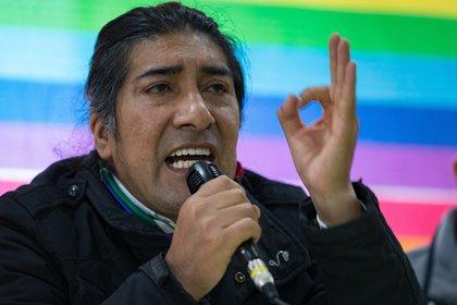 El candidato presidencial indígena ecuatoriano Pachakutik, Yaku Pérez. EFE/José Jácome/Archivo