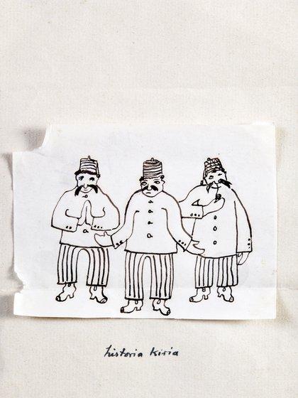 """Portada de Historia Kiria"", de Pedro Figari (S/F). Tinta sobre papel. 8 x 10,5 cm. Colección Museo Figari"