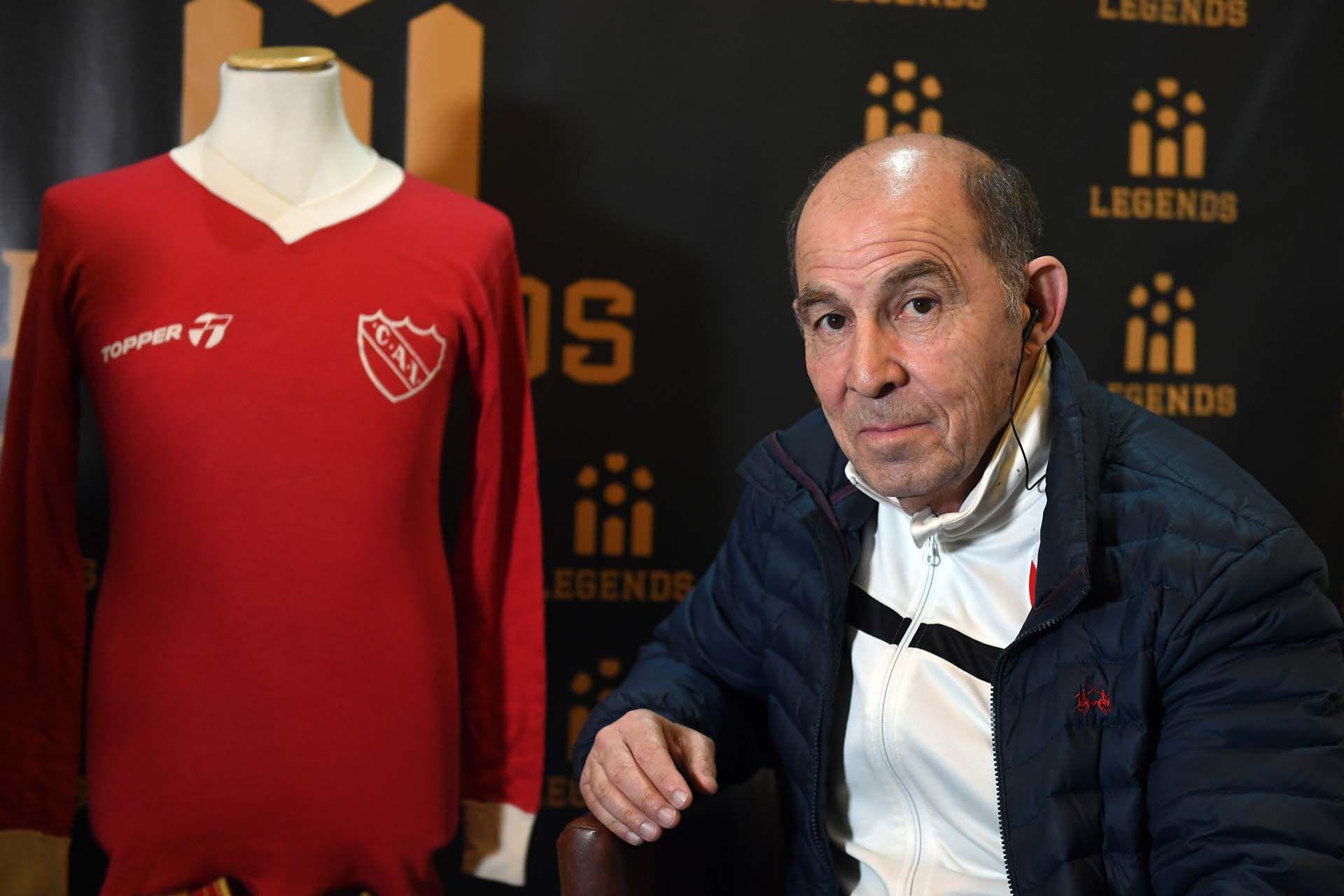 Ricardo Bochini, máximo ídolo de la historia de Independiente (Foto: Maximiliano Luna)