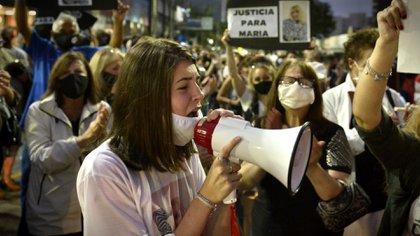 Hanna, la hija de María Rosa, que gritó por justicia para su mamá.