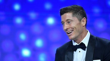 Soccer Football - Champions League - Group Stage Draw - Geneva, Switzerland - October 1, 2020  Robert Lewandowski during the draw   UEFA Pool/Handout via REUTERS??ATTENTION EDITORS - THIS IMAGE HAS BEEN SUPPLIED BY A THIRD PARTY. NO RESALES. NO ARCHIVES