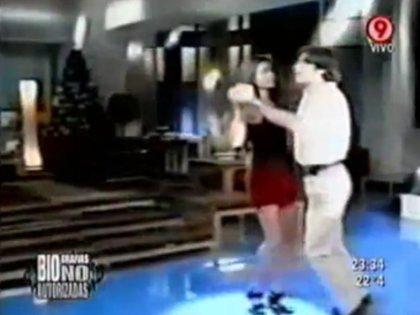 Florencia Raggi, invitada a Nico, el ciclo que conducía Repetto en 1995 en Telefe (Foto: captura de TV)