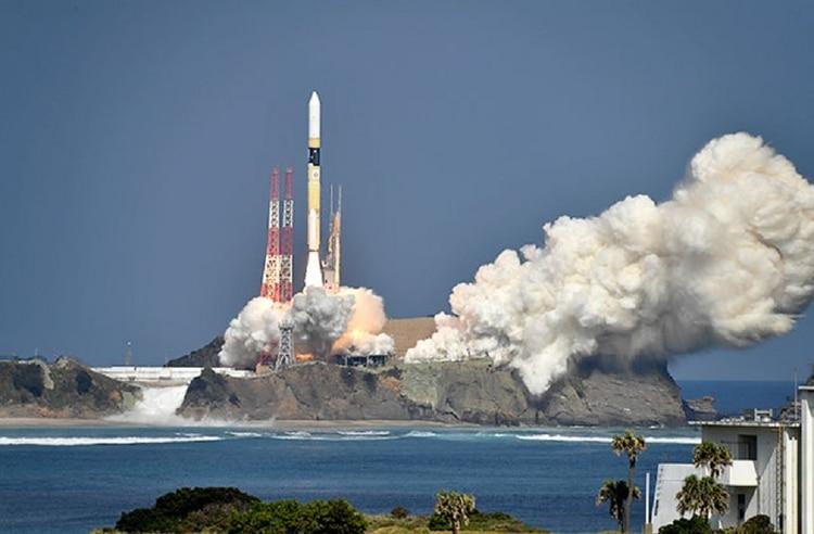 El lanzamiento del satélite (Jaxa)