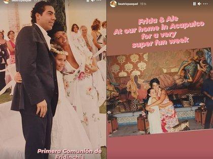 Primera comunión de Frida Sofía y vacaciones en Acapulco  (Foto: @beatrizpasquel/ Instagram)