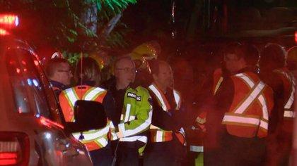 Equipos de emergencia acudiendo al lugar del accidente en Gabriola Island