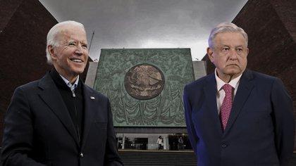 AMLO había manifestado que Biden es un demócrata y que como tal respetará las políticas que se tomen en México en respeto absoluto a la autodeterminación de las naciones. (Fotoarte: Jovani Pérez)