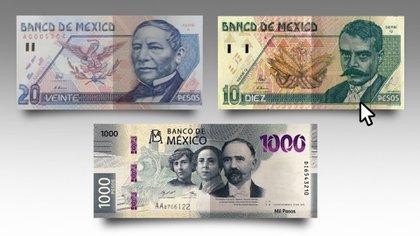 Cuatro billetes extraordinarios que se cotizan en línea de 11,500 hasta 84,200 pesos