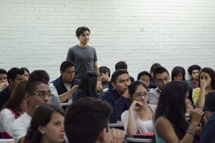 Alumnos en una escuela secundaria