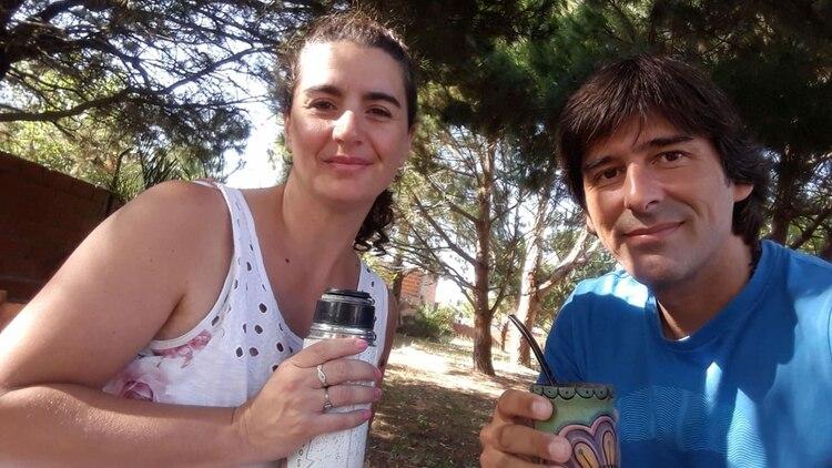Juan junto a Magui. Están juntos desde hace 15 años