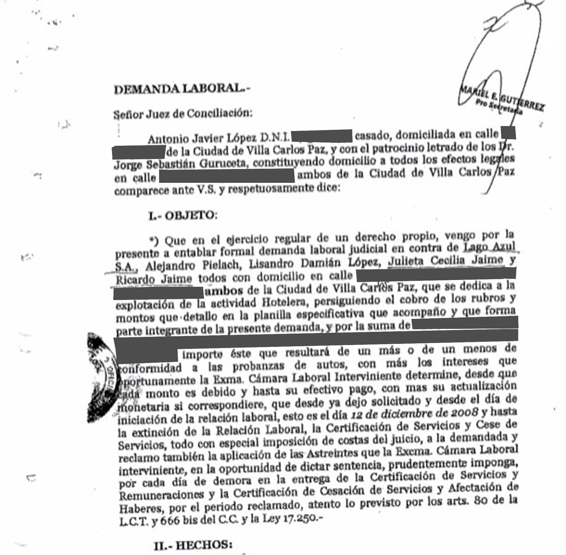 Hotel de Jaime - documentos