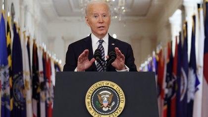 Joe Biden fue invitado el martes a pronunciar su primer discurso ante una sesión conjunta del Congreso de EEUU