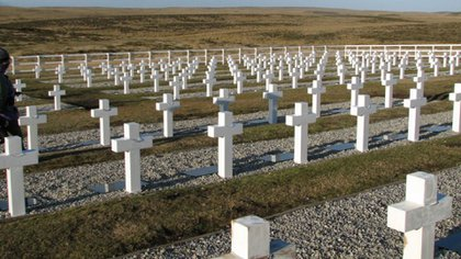 El cementerio de Darwin, en Malvinas