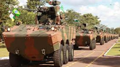 """El """"Blindado 8x8 Guaraní actualmente en uso por parte el Ejército de Brasil"""