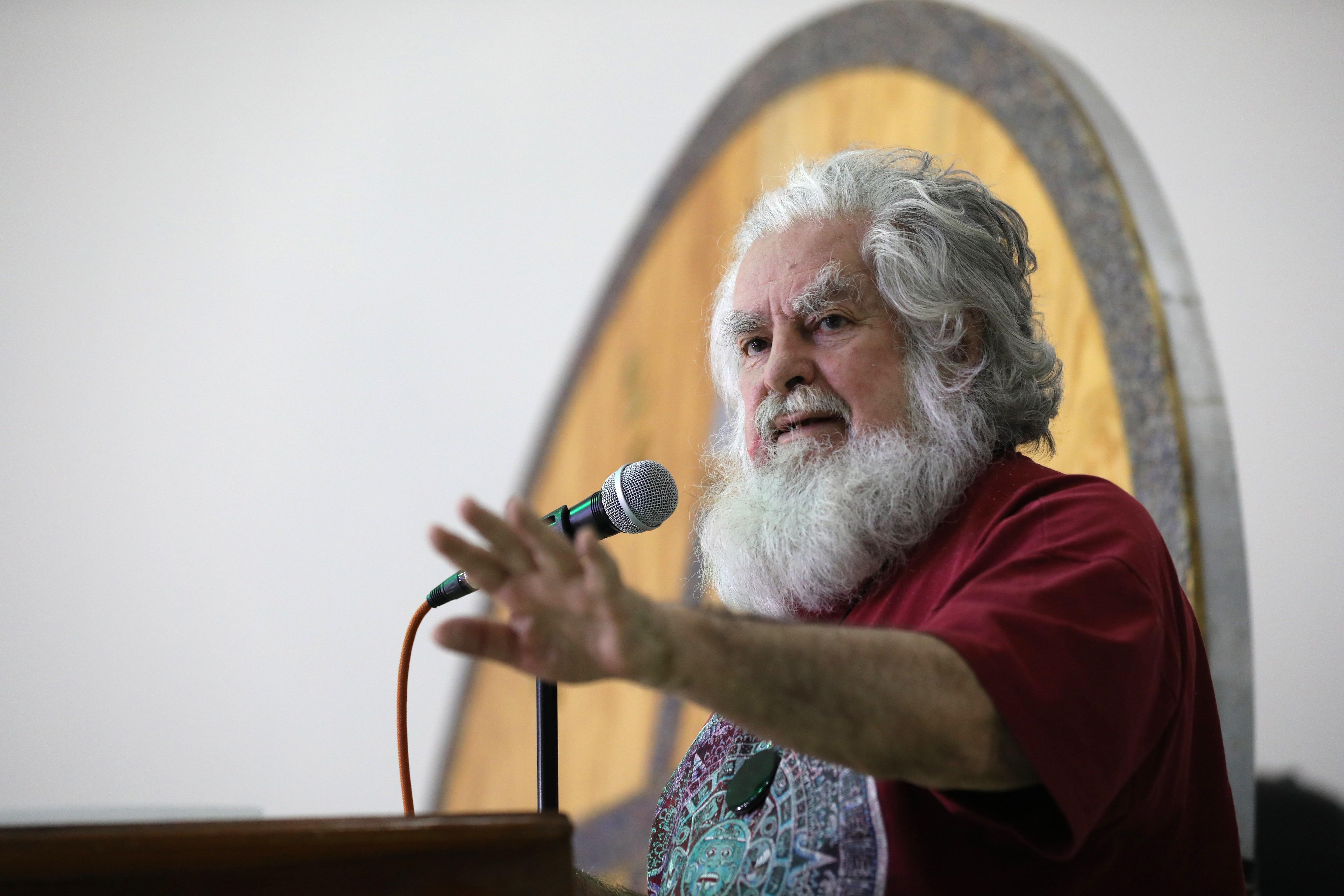 """Durante su conferencia de principios del año pasado, Vázquez aseguró que López Obrador tendría problemas de salud durante un primer año de gobierno """"difícil"""".  (EFE)"""